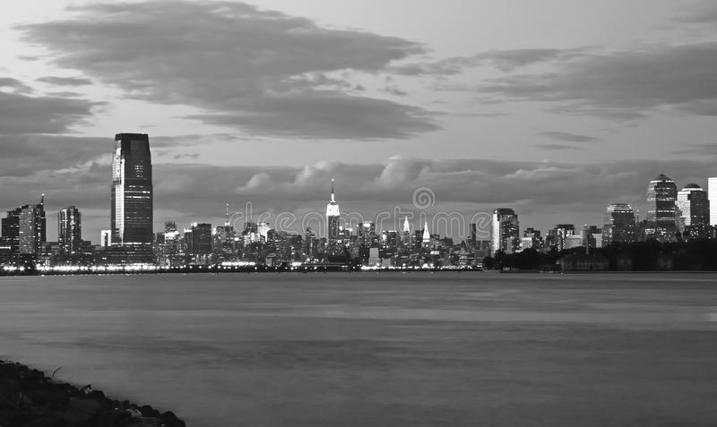Den New York City horisonten royaltyfria foton