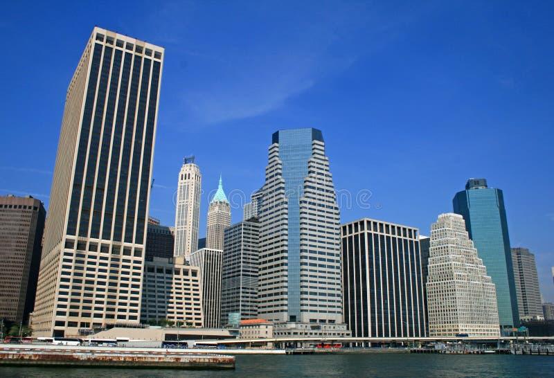 Den New York City horisonten fotografering för bildbyråer