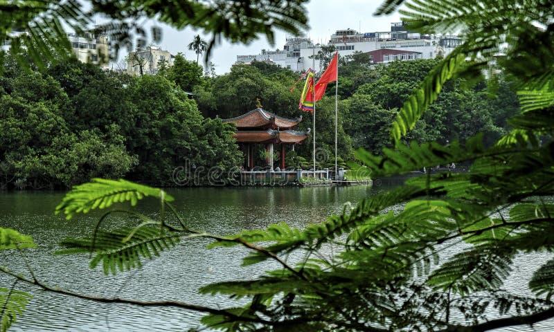 Den Ngoc son temple, Hoan Kiem Lake, Hanoi. stock images