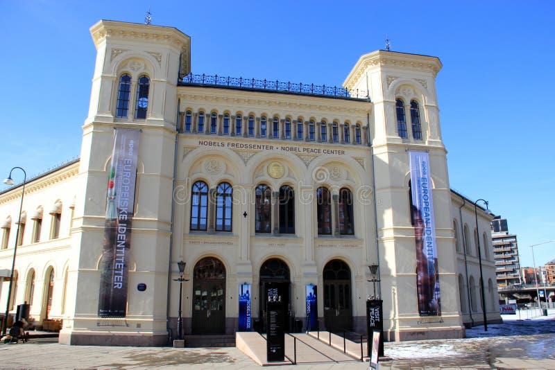 Den Nobel fredprisen centrerar i Oslo royaltyfri foto