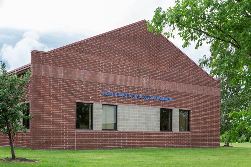 Den North Dakota staten kärnar ur avdelning på den North Dakota delstatsuniversitetet royaltyfri foto