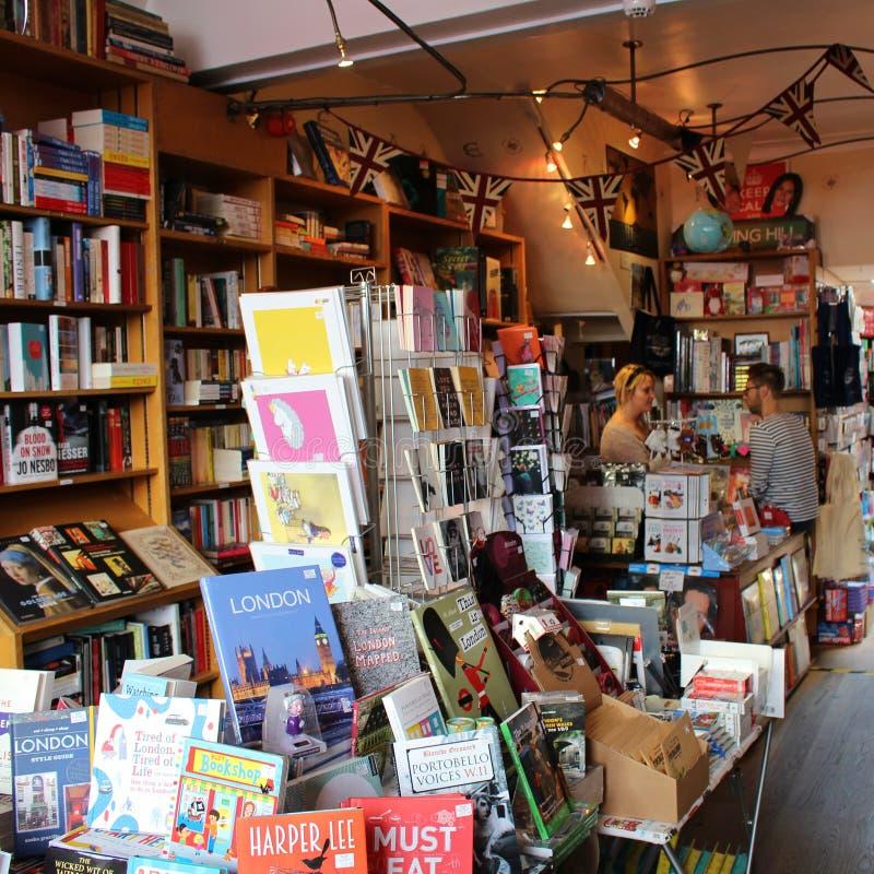 Den Notting Hill bokhandeln royaltyfria foton