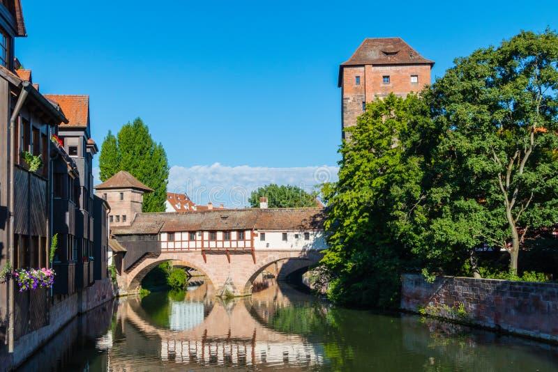 Den Nuremberg staden siktar Henkermeile royaltyfria bilder