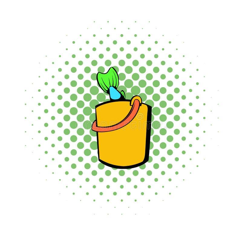 Den nya fisken i den gula hinksymbolen, komiker utformar vektor illustrationer