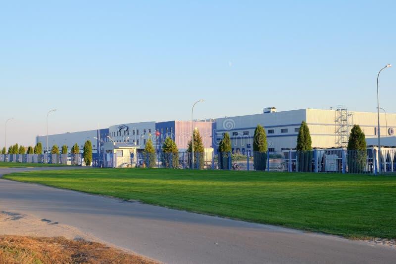 Den nya logistikmitten av det Roshen konfektföretaget royaltyfri foto
