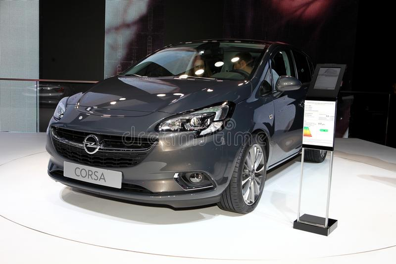 Den nya Opel Corsa arkivbilder