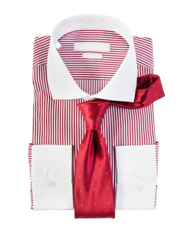 Den nya röda och vita randiga skjortan arkivbilder