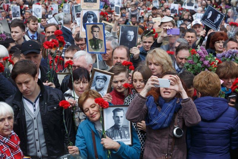 Den odödliga regementemarschen i Kiev royaltyfria bilder