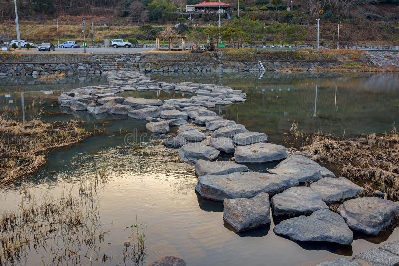 Den offentliga vintern parkerar på Sydkorea fotografering för bildbyråer