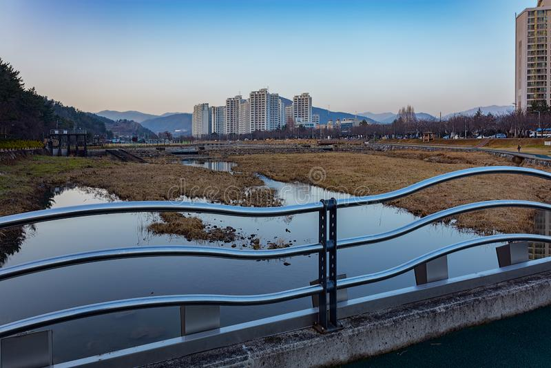 Den offentliga vintern parkerar på Sydkorea royaltyfri foto