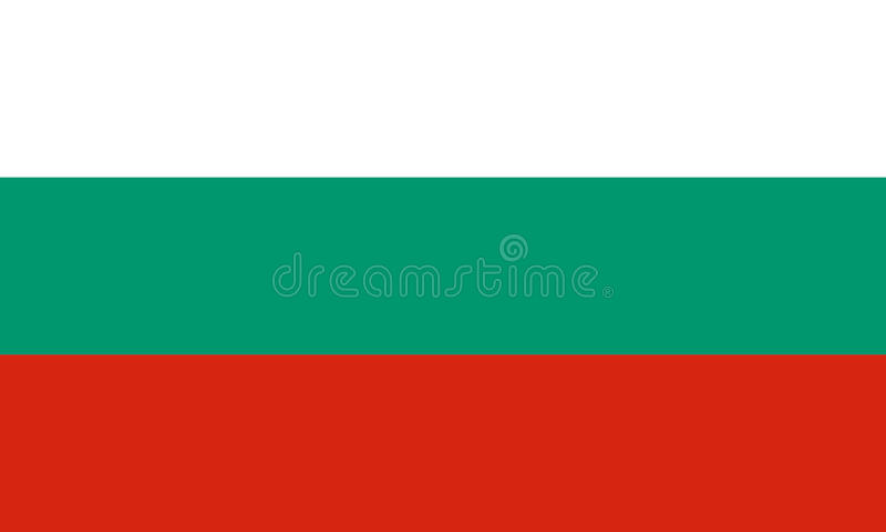 Den officiella flaggan av Bulgarien arkivbilder