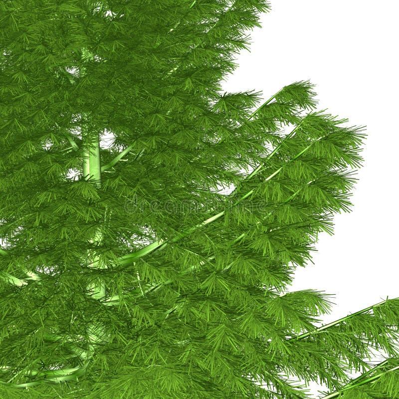 den oisolerade julen ready treen vektor illustrationer