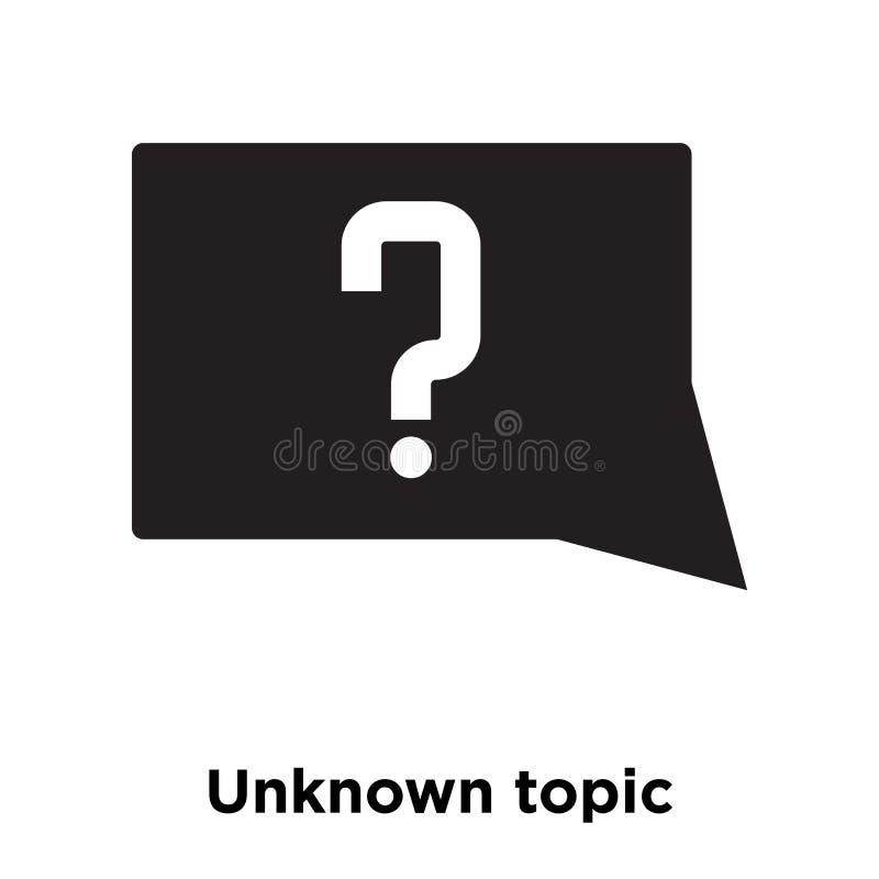 Den okända ämnesymbolsvektorn som isoleras på vit bakgrund, logo lurar stock illustrationer