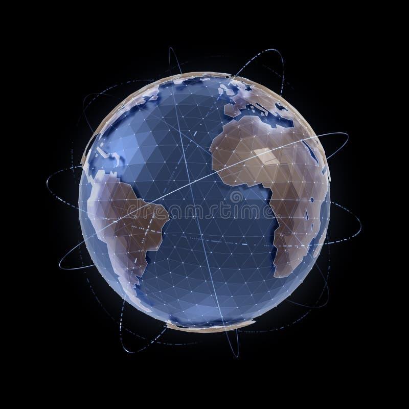 den olika jordklotillustrationvektorn visar världen vektor illustrationer