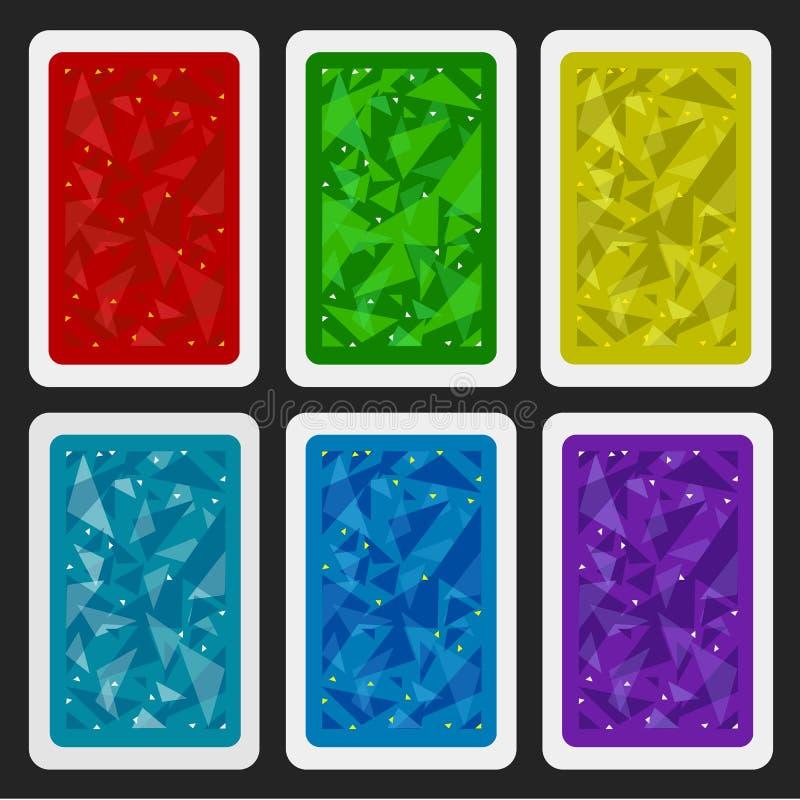 Den omvända sidan av ett spela kort för blackjack annan lek med en modell vektor illustrationer