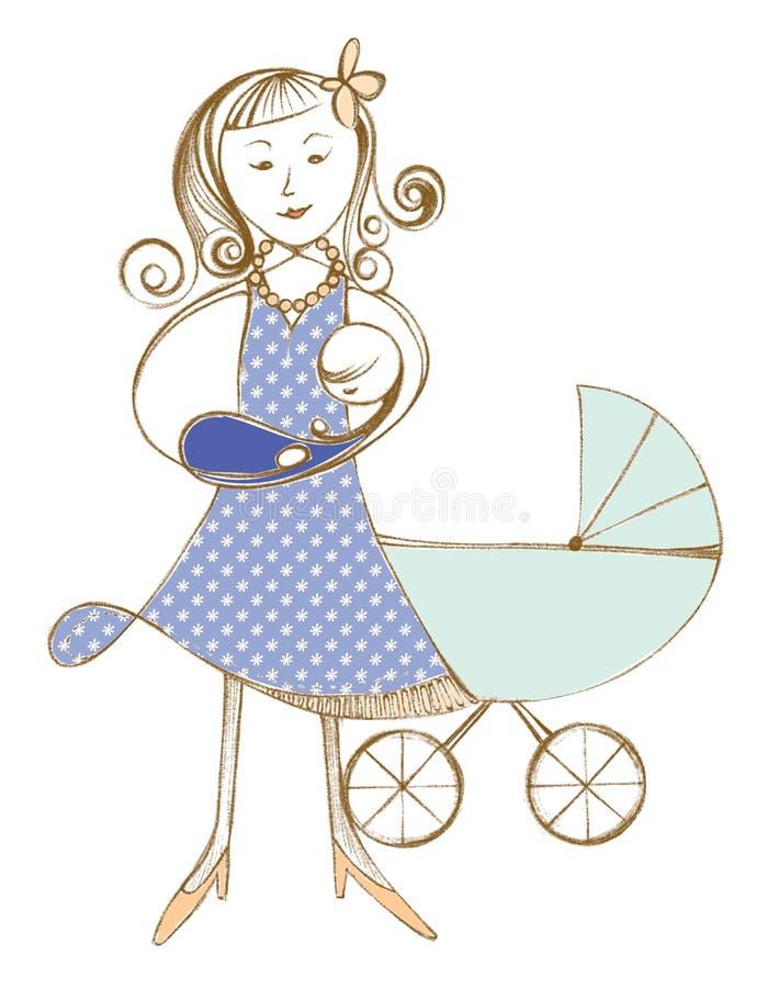 Den original- illustrationen, behandla som ett barn flickan royaltyfri foto