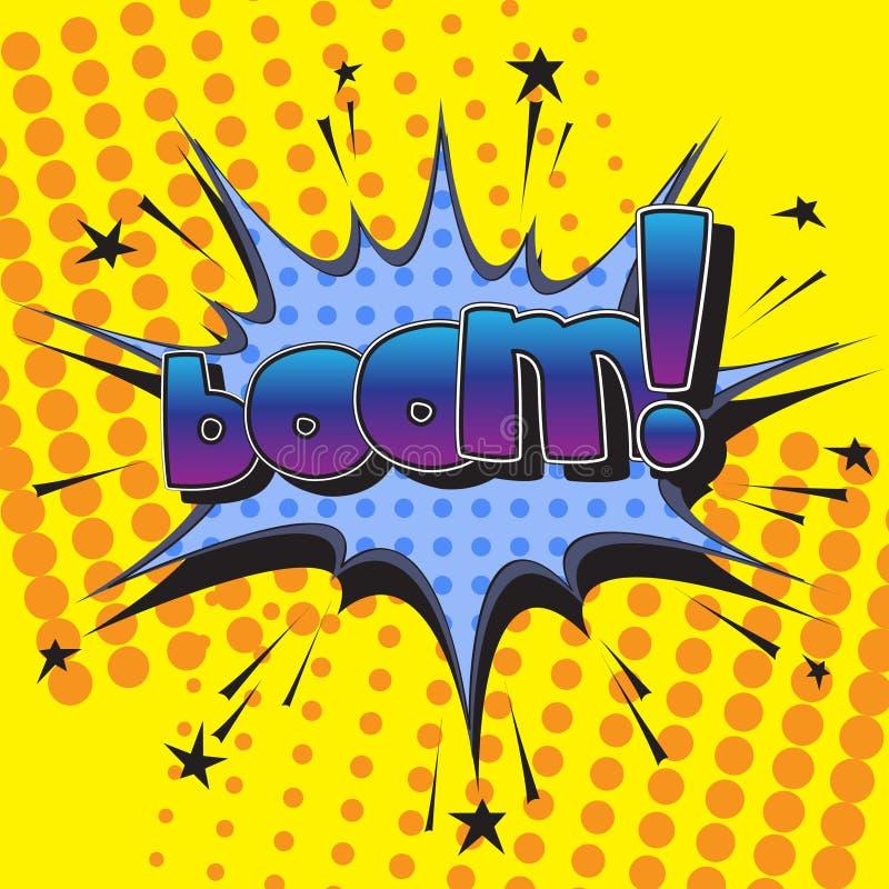 Den original- stavningen av uttrycksbang! i komisk stil stock illustrationer