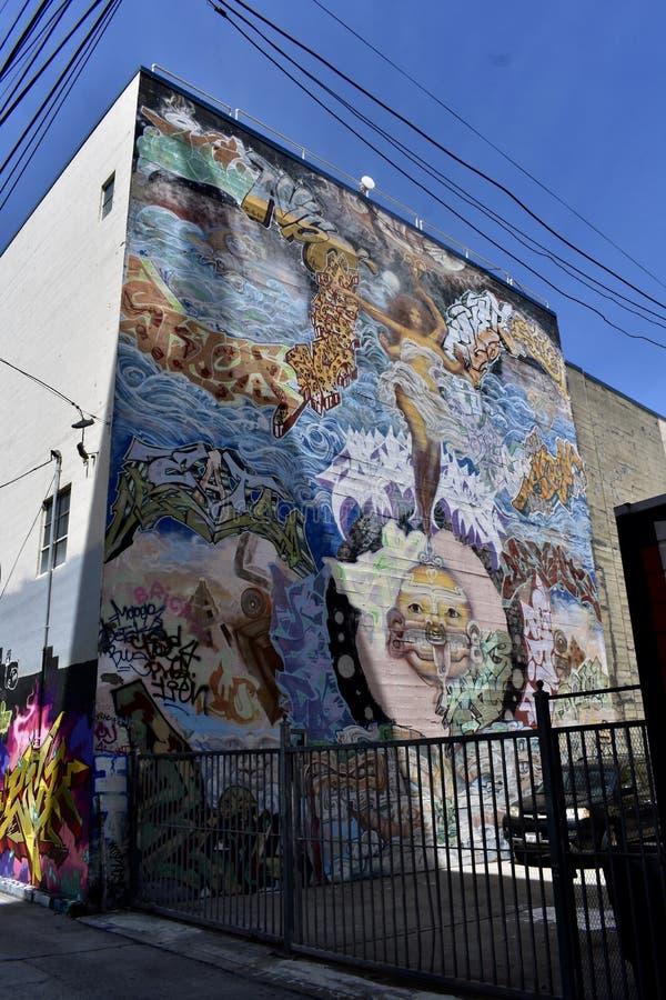 Den Osaoe grändväggmålningen arbetar San Francisco, 19 arkivfoton