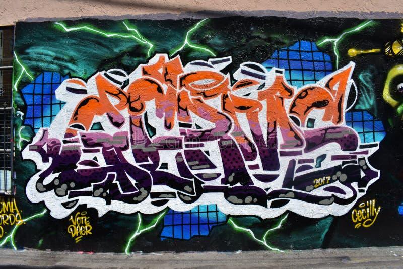 Den Osaoe grändväggmålningen arbetar San Francisco, 16 royaltyfria foton