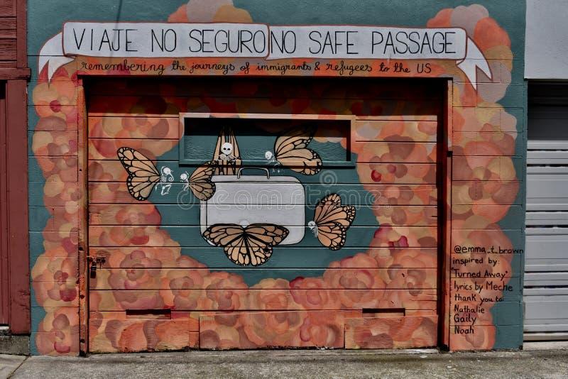 Den Osaoe grändväggmålningen arbetar San Francisco, 1 fotografering för bildbyråer