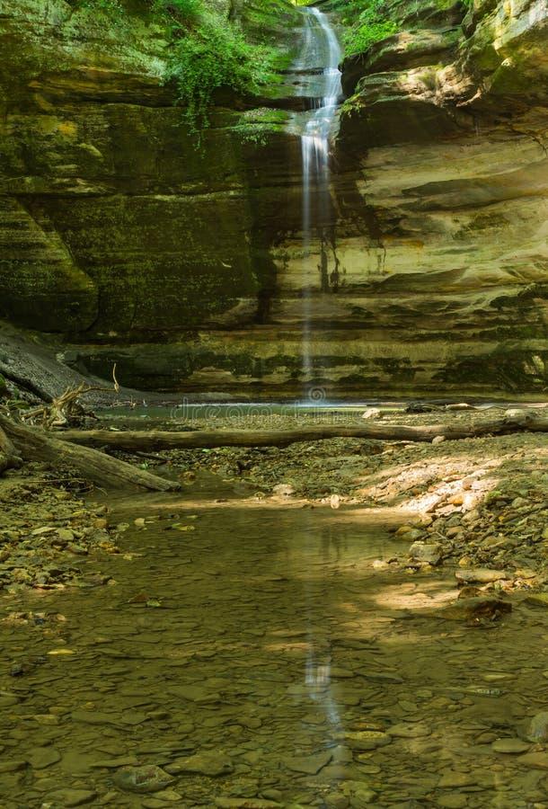 Den Ottawa kanjonen som svältas vaggar delstatsparken, Illinois arkivbilder