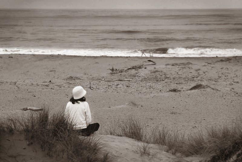 Den Ozean (bw) überwachen stockfotos