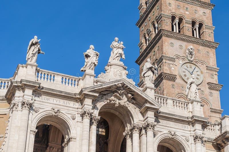 Den påvliga basilikan av helgonet Mary Major i Rome, Italien royaltyfri bild
