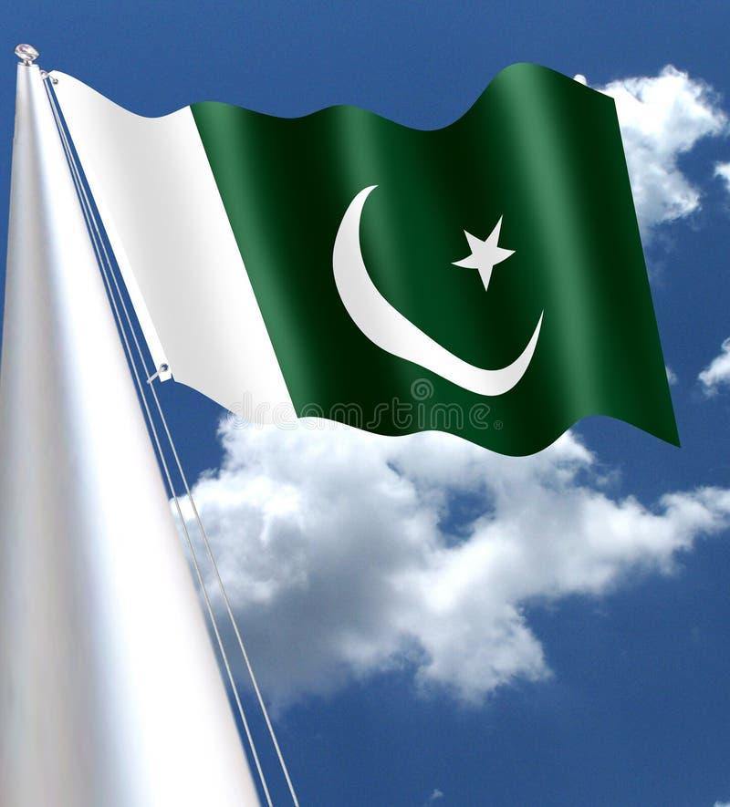 Den pakistanska nationsflaggan adopterades i dess närvarande form under ett möte av den bestånds- enheten på Augusti 11, 1947, ju royaltyfri illustrationer