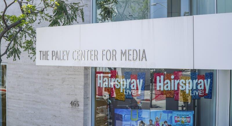 Den Paley mitten för massmedia i Beverly Hills - LOS ANGELES - KALIFORNIEN - APRIL 20, 2017 royaltyfria bilder