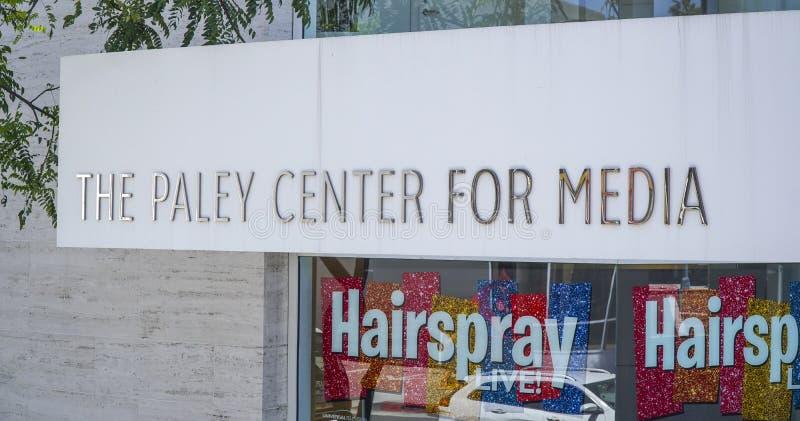 Den Paley mitten för massmedia i Beverly Hills - LOS ANGELES - KALIFORNIEN - APRIL 20, 2017 royaltyfri fotografi