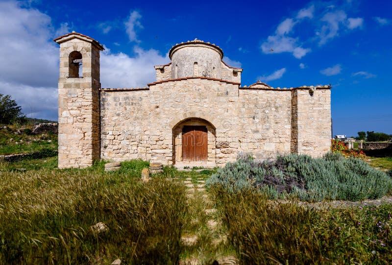 Den Panagia Kanakaria kyrkan och kloster i turken upptog sidan av Cypern 3 royaltyfria foton
