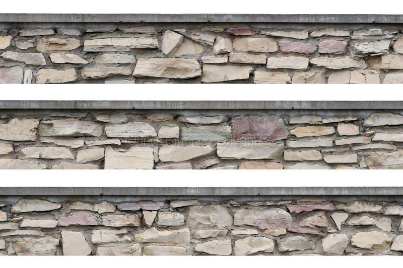 Den panorama- stenstaketpanoramat stonewall isolerat royaltyfri foto