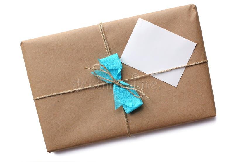 Den pappers- bruntet paketerar royaltyfria foton