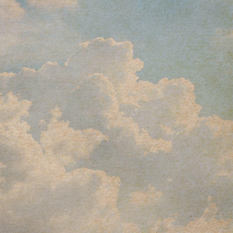 Den pappers- skyen texturerar arkivbilder