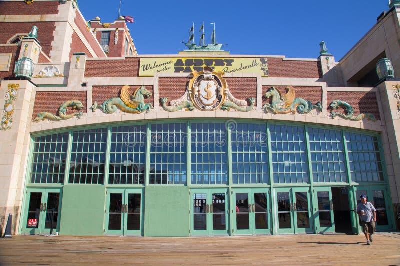 Den Paramount teatern Asbury parkerar NJ royaltyfri bild