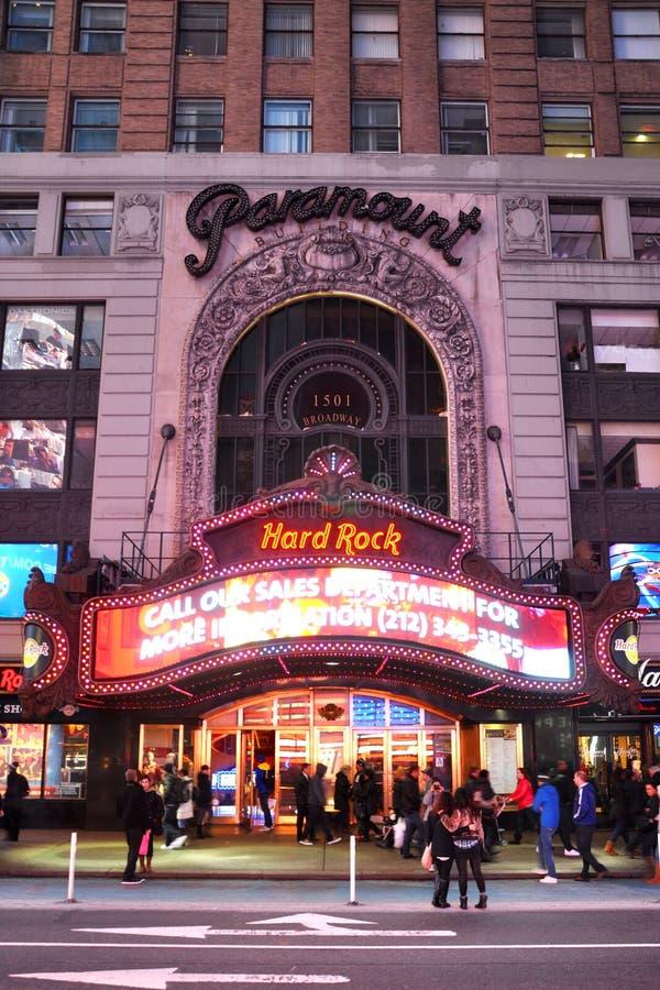 Den Paramount theatren, tider kvadrerar, Manhattan, NYC arkivfoto