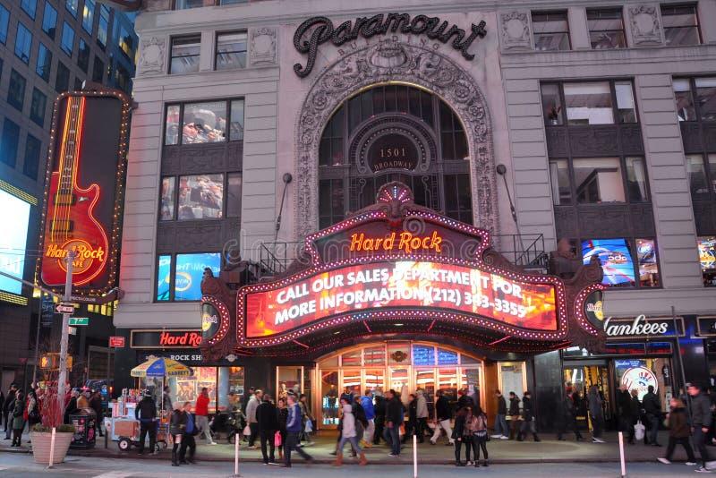 Den Paramount theatren, tider kvadrerar, Manhattan, NYC arkivbild