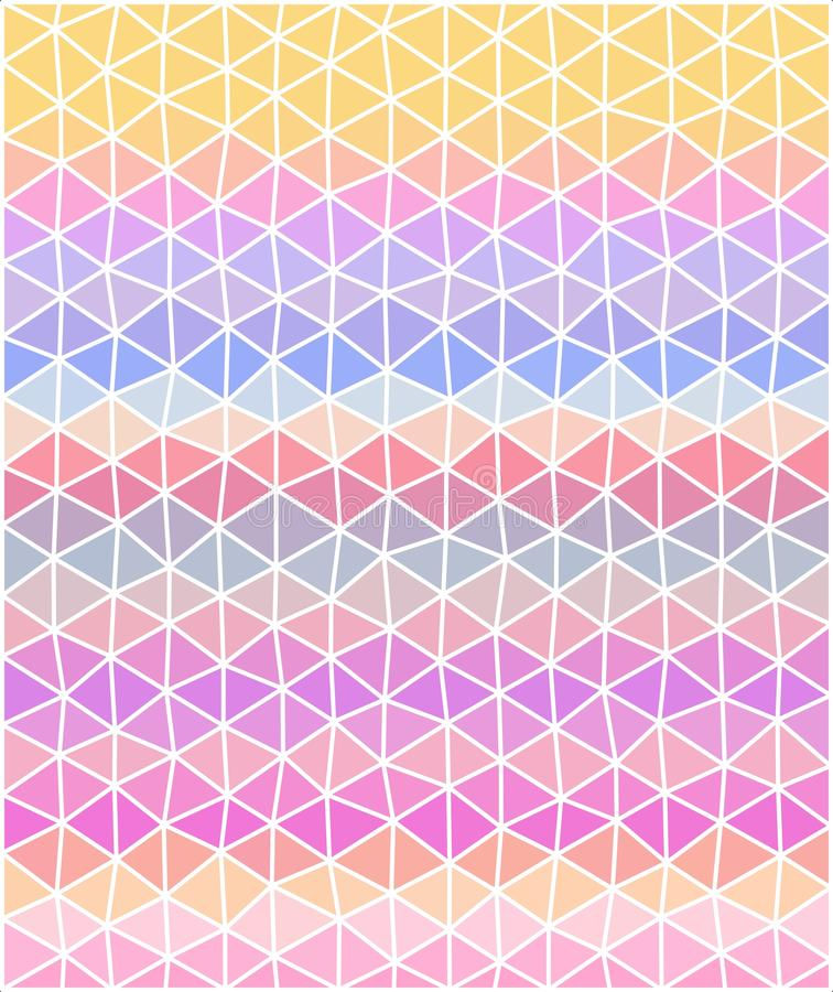 Den pastellfärgade kulöra polygonal illustrationen består av trianglar stock illustrationer