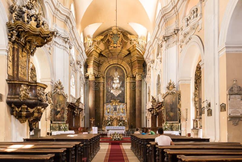 Den Piarist kyrkan royaltyfri foto