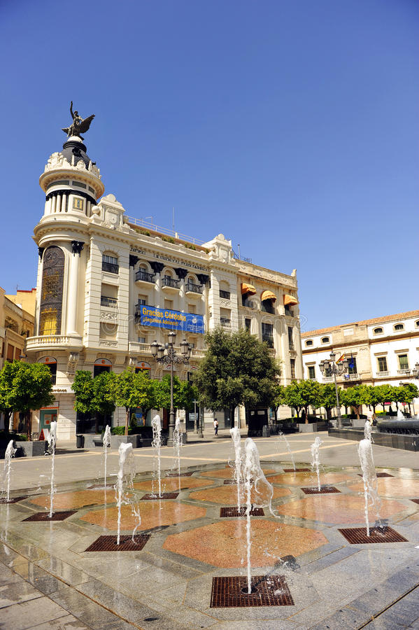 Den PlazaTendillas fyrkanten i Cordoba, Spanien royaltyfri foto