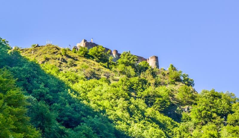 Den Poenari fästningen arkivfoton