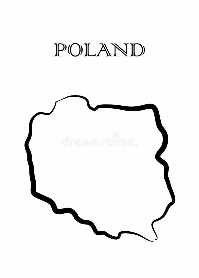 Den Polen översikten stock illustrationer