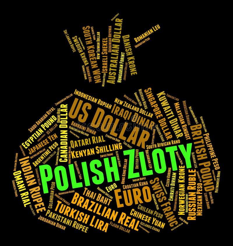 Den polska zlotyen betyder Forexhandel och valutor royaltyfri illustrationer