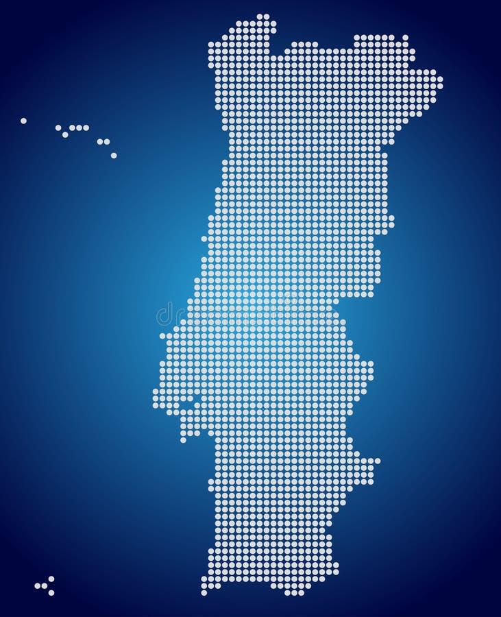 Den Portugal översikten - PIXEL royaltyfri illustrationer
