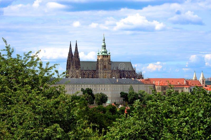 Den Prague slotten i Tjeckien royaltyfri foto