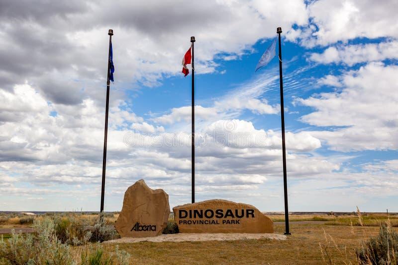 Den provinsiella dinosaurien parkerar - Alberta, Kanada arkivfoton