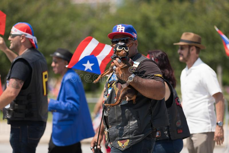 Den puertoricanska dagen ståtar 2018 arkivfoton
