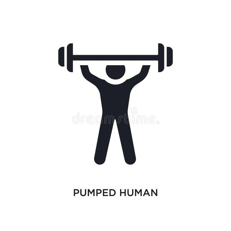 den pumpade människan isolerade symbolen enkel beståndsdelillustration från känslabegreppssymboler pumpad mänsklig redigerbar des royaltyfri illustrationer