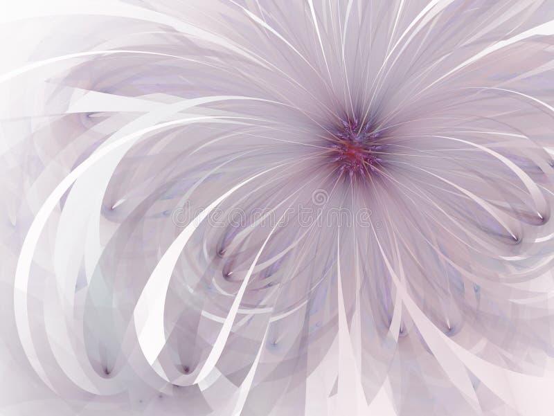 Den purpurfärgade försiktiga och mjuka fractalblommadatoren frambragte bilden för logoen, designbegrepp, rengöringsduken, tryck,  vektor illustrationer