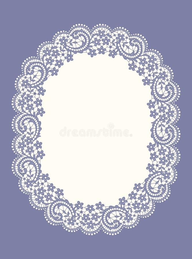 Den purpurfärgade ovalen snör åt ramen stock illustrationer